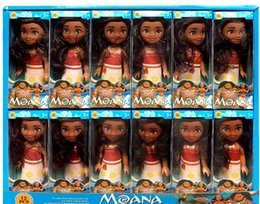 "Wholesale Boxing Figures - 6"" Moana Barbie Dolls Classic Moana Pincess Plastic Dolls Action Figure toys for Girls box pack"