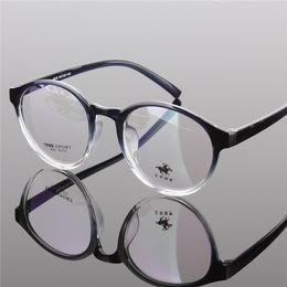 209a6403758 Wholesale- Vintage round Spectacles Gradient eyeglasses frame men women  myopia eye glasses clea lens fashion 2014 new black