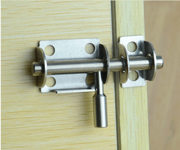 Wholesale Hotels Door Lock - free shipping stainless steel door bolt wood door latch home window hotel security lock household hardware part