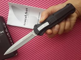 Wholesale Good Survival - Outdoor Knives 10 styles Benchmade BM 3300BK Infidel Survival Knife Double Single Edge good Action Plain EDC Pocket Tactical Knife