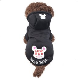 Wholesale Quality Cotton Dog Sweaters - Dog Cartoon Sweater Cute Letter High Quality Warm Winter Dog Sportswear Cartoon Pet Clothes Puppy Hooded Sweater Coat Jacket D-028