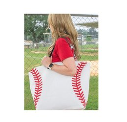 sac en coton toile blanche Promotion 100pcs Baseball noir blanc jaune Blanks toile de coton Softball Fourre-tout Baseball Football Bag Soccer Bag avec Hasps Fermeture Sports Bag