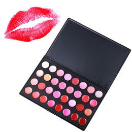 lipstick palette cosmetics Promo Codes - Wholesale- New Arrival Professional 32 Color Gorgeous Lip Gloss Lipstick Makeup Cosmetic Palette 88 YF2017 free ship