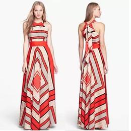 Wholesale Halter Hanging Neck - 2017 summer new women's European and American style fashion temperament dress hot sleeveless chiffon hanging neck dress