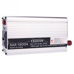 Wholesale Solar Waving - Wholesale- 1500W 12V-220V   240V AC Household Car Solar Power Inverter Converter Adapter Modified Sine Wave Form
