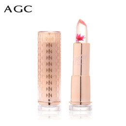 chrysanthemum lipstick Coupons - 1Pcs Waterproof Chrysanthemum Lipstick Jelly Fruit Lip Balm Stick Temperature Change Moisturizer Bright Surplus Lips Cosmetic