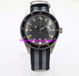 Wholesale Mm Covers - classic luxury Co-axial watch transparent back cover automatic mechanical black dial sapphire mirror high quality nylon strap pro