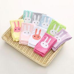 Wholesale Animal Print Pants For Kids - Girls Rabbit Printed Leggings Kids Cartton Animal Cotton Pants for Kids Summer 3t-8t 4 Colors