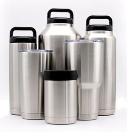 Wholesale Double Insulated Cups - Hot Sale Cups Cooler Rambler Tumbler Travel Vehicle Beer Mug Double Wall Bilayer Vacuum Insulated 10oz 12oz 18oz 20oz 30oz 36oz 64oz