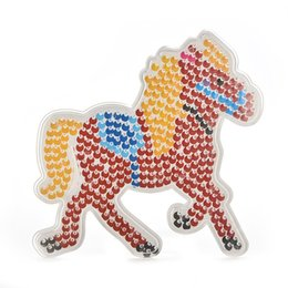 Wholesale Beads Pegboards - Wholesale- 1 Pcs Pegboard Bicycle Motocycle Horse Bear Dog Shape Model Template for EVA Beads Plastic Stencil