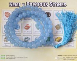 Wholesale Aquamarine Beads 8mm - Sri Lanka Aquamarine Mala 108 Prayer Beads 8mm necklace Eliminate worry