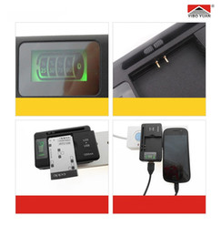 Wholesale Yiboyuan Battery Charger - Original YIBOYUAN With LCD Display Universal Charger For Phone Battery USB desktop Battery Li-ion Wall Charger