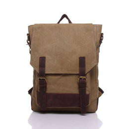 Wholesale Trade Backpack - New foreign trade backpack backpack canvas bag for students, retro large capacity men's bags