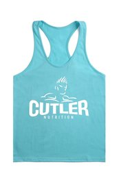 Wholesale Sexy Equipment - Wholesale- Cutler Stringer Tank Top Men Bodybuilding Equipment Clothing Fitness Shirt Vest Sleevelss Printing Singlets Causal Muscle Top