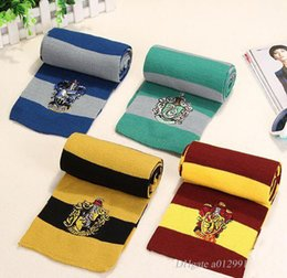 Wholesale Striped School Scarves - Harry Potter Scarf Gryffindor School Unisex Knitted Striped Scarf Gryffindor Scarve Harry Potter Hufflepuff Scarf Cosplay
