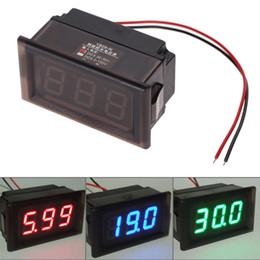 2019 voltímetros de panel digital Venta al por mayor a prueba de agua DC 3.3-30V LED Voltímetro Panel Digital Volt Meter Gauge Display para Auto Car Motorcycle 3 opciones de color voltímetros de panel digital baratos