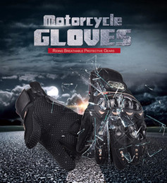 Wholesale pro motorcycle racing - Free Shipping PRO Full Finger Protective Gear Black Carbon Fiber Pro-Biker Bike Motorcycle Motorbike Racing Gloves Luvas M L XL