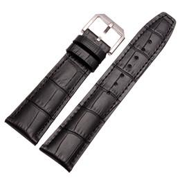 cinta de fivela para relógios Desconto Pulseira de relógio de couro preto marrom banda de relógio com barra de mola para frete grátis IWC