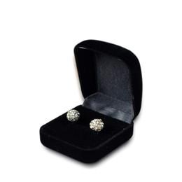 5pcs di aggancio all'ingrosso scatola di anello di velluto nero display gioielli di stoccaggio caso pieghevole per anello di nozze regalo di San Valentino organizzatore da