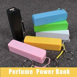 Wholesale mobile power packs - 2200mAh Portable Perfume USB Power Bank External Backup Battery Charger Emergency Travel Power Pack for Mobile Iphone with Package