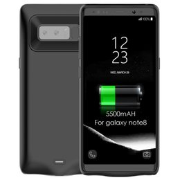 Wholesale Galaxy Note Charger Case - For Samsung Note 8 Power Bank Case Powerbank External Battery 5500mAh Portable Backup Charger Cover for Galaxy Note8