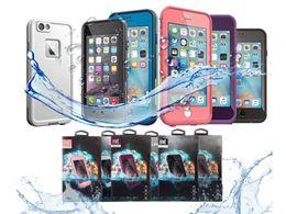 2018 sıcak satış kılıf Hayat Su geçirmez Kılıf iphone X 6 6 s iphone 7 7 artı fre Su Geçirmez kılıf Perakende ambalaj ücretsiz kargo nereden su geçirmez muhafaza ömrü tedarikçiler