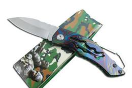 "Wholesale Mini Folding Blade - Free UPS China Mini Folder 2.3"" 440C Blade Full Steel Folding EDC Pocket Knives Best Christmas Gift With Retail Box F432L"