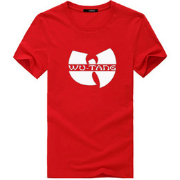 Wholesale Wu Tang Clan T Shirts - Men Summer Fashion New Wu Tang Clan T-shirts Music Hip Hop Hiphop Tshirts European big Size Cotton T Shirts S-3XL