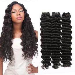 Wholesale Distributors Machines - hairme Brazilian Malaysian Deep Wave virgin human hair 3 boundles Natural color mixsize dyeable style indian hairwigs distributor freesshipp