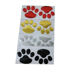 Wholesale Roof Glue - (40 pair lot ) Bear Paw Footprint 3D PVC Wholesale Funny Sticker For Car Truck Auto Paster Decal Art Car Styling Z-070910-5