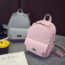 Wholesale Pack Sweets - Quality assurance 2017 new Fashion backpack High quality PU leather Women Back pack Sweet Girl Simple wild shoulder bag mini bag