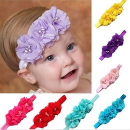 5PCS Pearl Flower Infant Baby Headbands Lace Girl Hairband Headwear Kids  Baby Photography Props NewBorn Baby Hair bands Accessories c69122a28a95