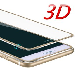 Wholesale Full Guard - 3D Aluminum alloy Tempered glass For iphone 6 6S 7 Plus 5 5S SE Full 9H screen protector protective guard film for iPhone 7