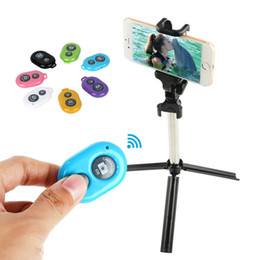 Wholesale Iphone Camera Remote Shutter - Universal Bluetooth Remote Camera Control Self-timer Release Shutter for samsung s3 s4 iphone 4 5 for ipad blackberry etc