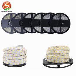 Wholesale Dc 11 - RGB LED Strip 5050 5630 3528 3014 Non-waterproof 5M 60Led M LED Strip Light DC12V Tape String Band Bar Neon-Bombillas led Lamp