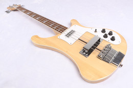 Wholesale One Piece Body Bass - 2017 Guitar 4003 Natural bass New one piece body candy yellow Electric bass Chinese Electric bass