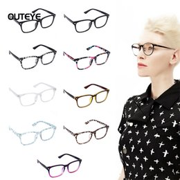Wholesale Wholesale Geek Eyeglass Frames - OUTEYE 9Color Hot optical myopia glasses clear lens eyewear nerd geek glasses frame sun shade eyeglasses frames for men women W1