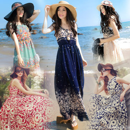 Wholesale Long Length Free Size Dresses - Sleeveless Party Beach Boho Long Maxi Dress Sundress Plus Size Summer Dress hot selling free shipping
