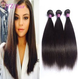 Wholesale Brazilian Virgin Stright - JYZ Brazilian Indian Peruvian Malaysian Virgin Hair Straight 100% Human Hair 3 Bundles Unprocessed Stright Human Hair Wefts