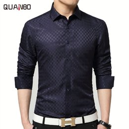 Wholesale Collar Shirts Wholesale - Wholesale- 2017 Brand New Men Shirt Male Dress Shirts Men's Fashion Casual Long Sleeve Business Formal Shirt White camisa social masculina