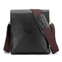 Wholesale Mens Leather Bags Wholesale - Wholesale- sulppai polo Hot Sale Fashion Men Genuine Leather Messenger High Quality Brand Business Bags Wholesale Price Mens Bag