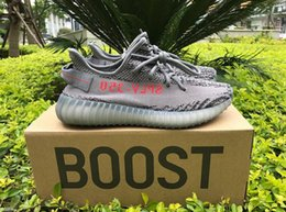 Wholesale Mens Shoes Dhl - Kanye West YEEYS Boost 350 V2 CP9654 White CBLACK RED 8 Colors 350 Boost Mens Running Shoes Womens Sports Shoes DHL Shipping