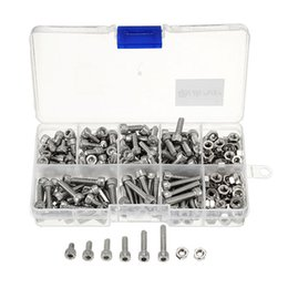 Wholesale Socket Cap Screw Stainless - M4 Stainless Steel Hex Socket Head Cap Screws Bolts Nuts Assortment Kit 250Pcs