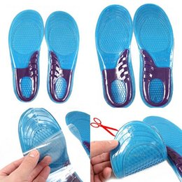 Wholesale Insole Orthotic - Gel Insole Orthotic Sport Insert Shoe Pad Arch Support Heel Cushion Massaging Silicone Gel Insoles Arch Support Insole 200pairs= 400pcs