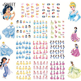 Wholesale Princesses Nail Stickers - Wholesale- 11 Designs In 1 Beauty Cartoon Princess Water Transfer Decals Nail Stickers Foil Polish Wraps DIY Decoration Tools #BLE1698-1708