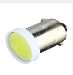 Wholesale Ba9s Led Yellow Light - 100X BA9S COB 6 led chip Car Side Tail Signaling Wedge Bulb Clearance Dashboard License Plate Light Universal Instrument Lamp