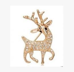 Ballerina di cristallo di brooch online-Ballerina figura spille pins spilla di cristallo cervo brooch corsetti sciarpe fibbia festa di compleanno regali di Natale