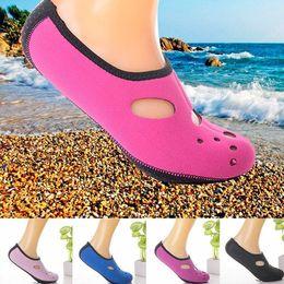 Wholesale Fin Socks - 2-3MM Neoprene Short Beach Socks Non-slip Antiskid Scuba Dive Boots Snorkeling Sock Swimming Fins Flippers Wetsuit Shoes water fun feet