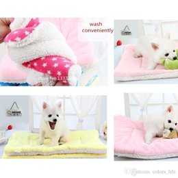 Wholesale High Cat Beds - High quality Cats Coral Fleece 11 Colors Coussin Chien Flannel Soft Warm Dog Pets Blanket Tapis Chien Manta Perro 55 x 42cm 21.7 x 16.5in