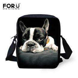 Wholesale Mini Bags For Women - Wholesale- FORUDESIGNS Women Messenger Bags 3D Animal Dog Shoulder Travel Bag For Woman Mujer Girl Crossbody Bag Casual Female Mini Handbag